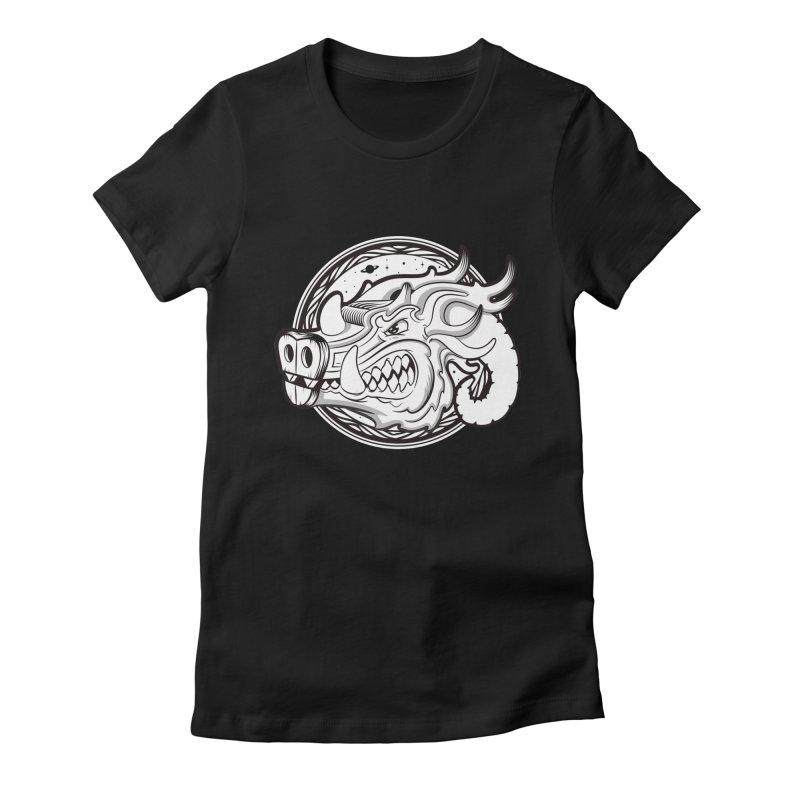 VIKING Women's Fitted T-Shirt by kukulcanvas's Artist Shop
