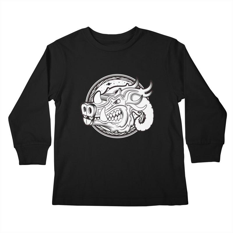 VIKING Kids Longsleeve T-Shirt by kukulcanvas's Artist Shop