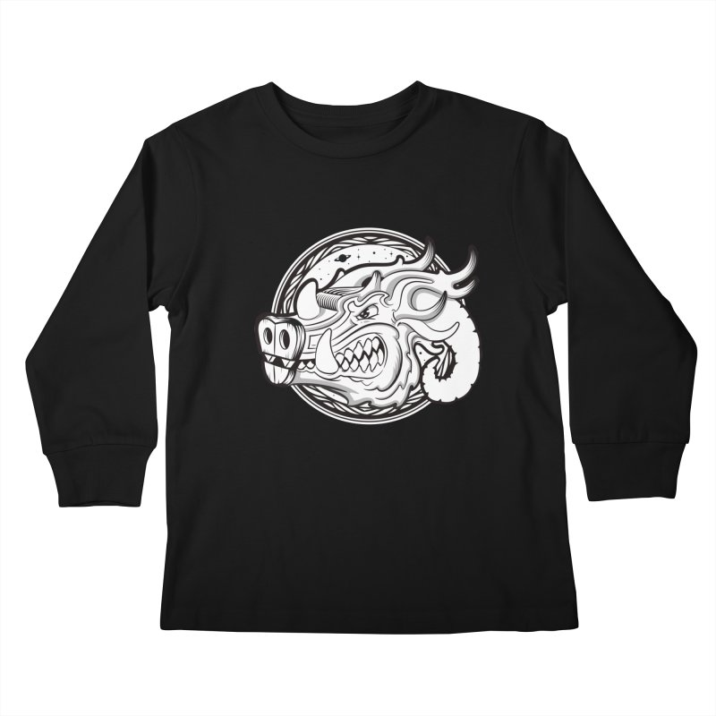 VIKING Kids Longsleeve T-Shirt by kukulcanvas's Artist Shop