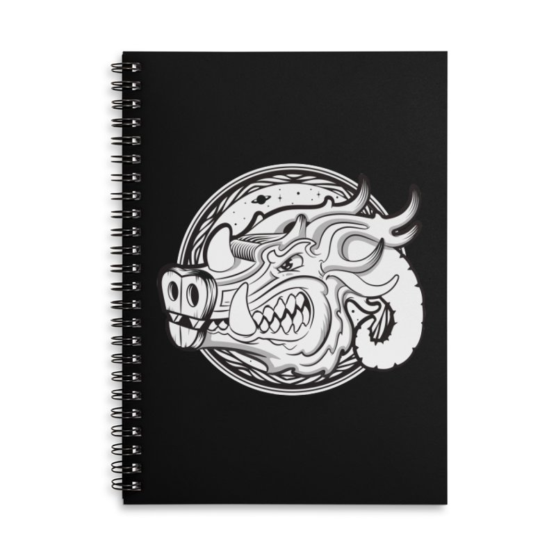 VIKING Accessories Lined Spiral Notebook by kukulcanvas's Artist Shop