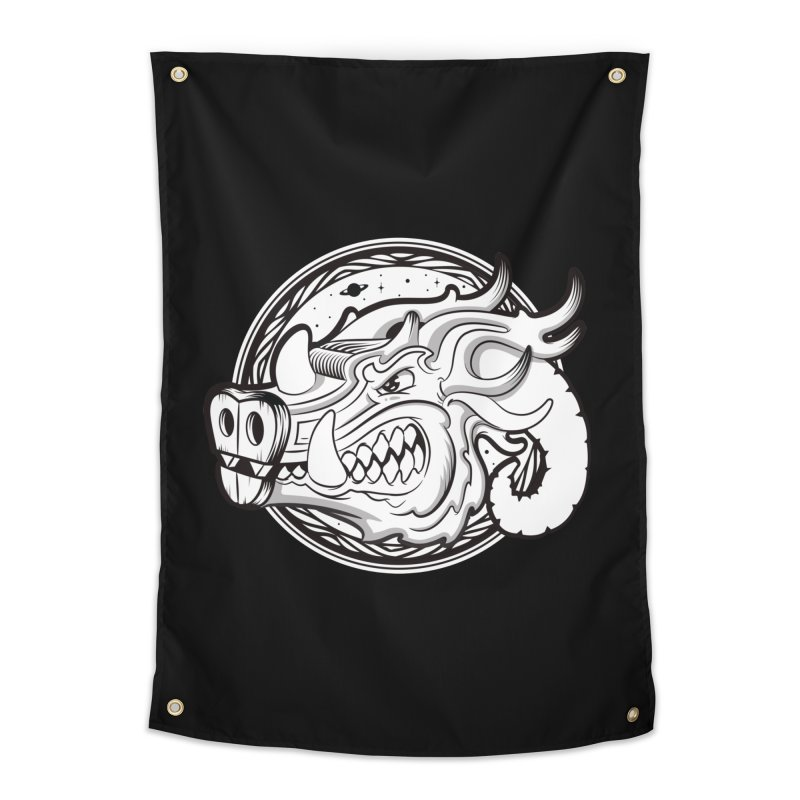 VIKING Home Tapestry by kukulcanvas's Artist Shop