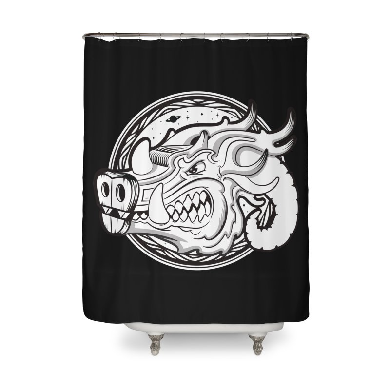 VIKING Home Shower Curtain by kukulcanvas's Artist Shop