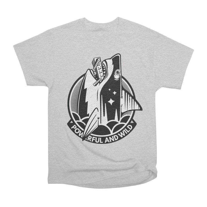 POWERFUL AND WILD Men's T-Shirt by kukulcanvas's Artist Shop