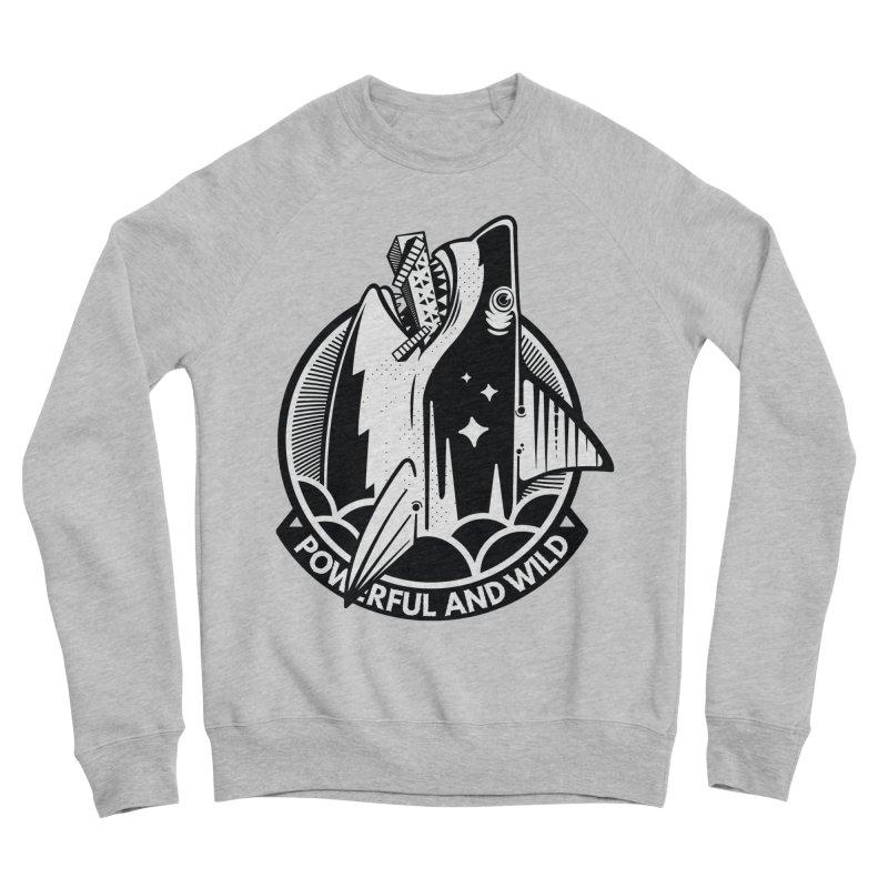 POWERFUL AND WILD Men's Sponge Fleece Sweatshirt by kukulcanvas's Artist Shop