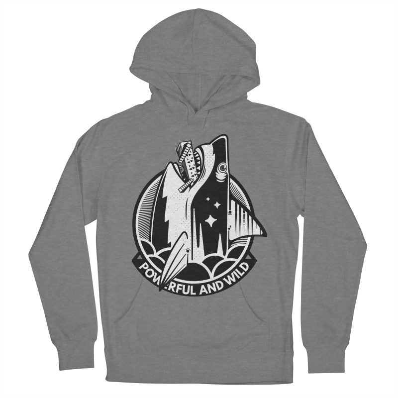 POWERFUL AND WILD Men's French Terry Pullover Hoody by kukulcanvas's Artist Shop
