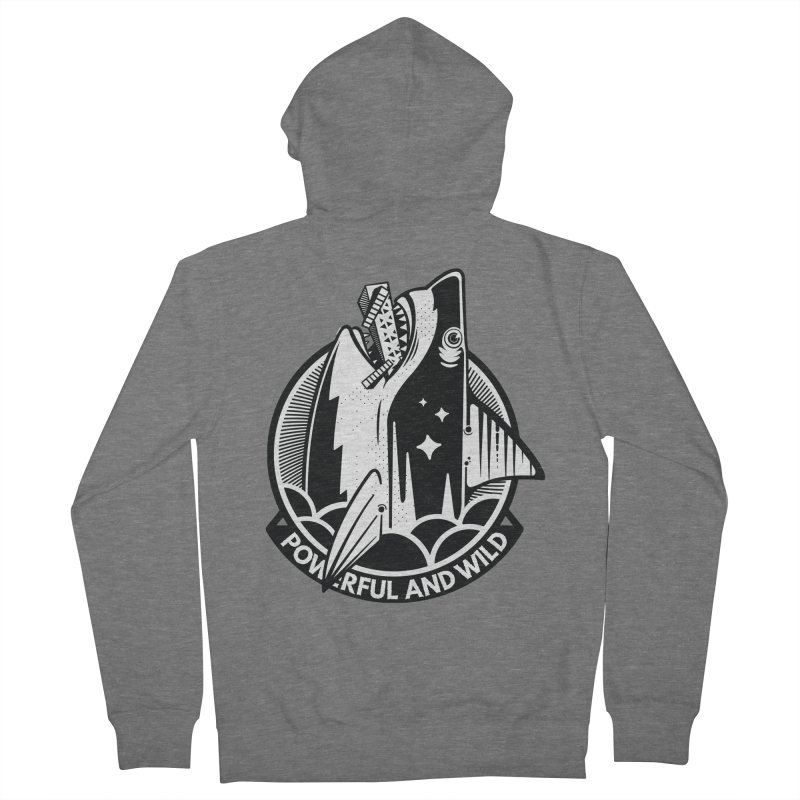 POWERFUL AND WILD Women's French Terry Zip-Up Hoody by kukulcanvas's Artist Shop