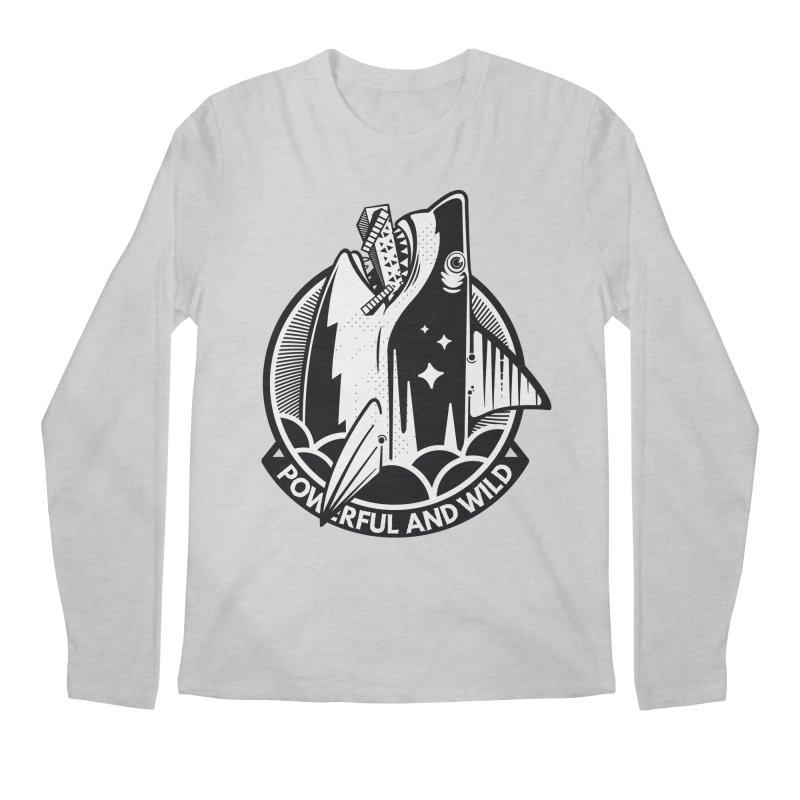 POWERFUL AND WILD Men's Regular Longsleeve T-Shirt by kukulcanvas's Artist Shop
