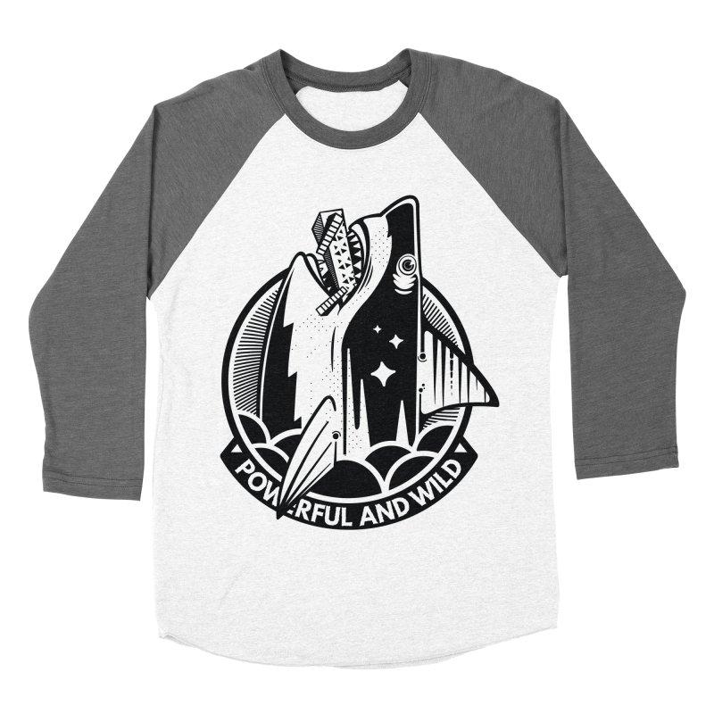POWERFUL AND WILD Men's Baseball Triblend Longsleeve T-Shirt by kukulcanvas's Artist Shop