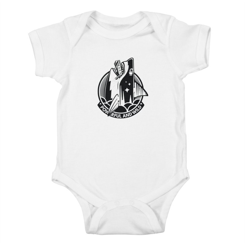 POWERFUL AND WILD Kids Baby Bodysuit by kukulcanvas's Artist Shop