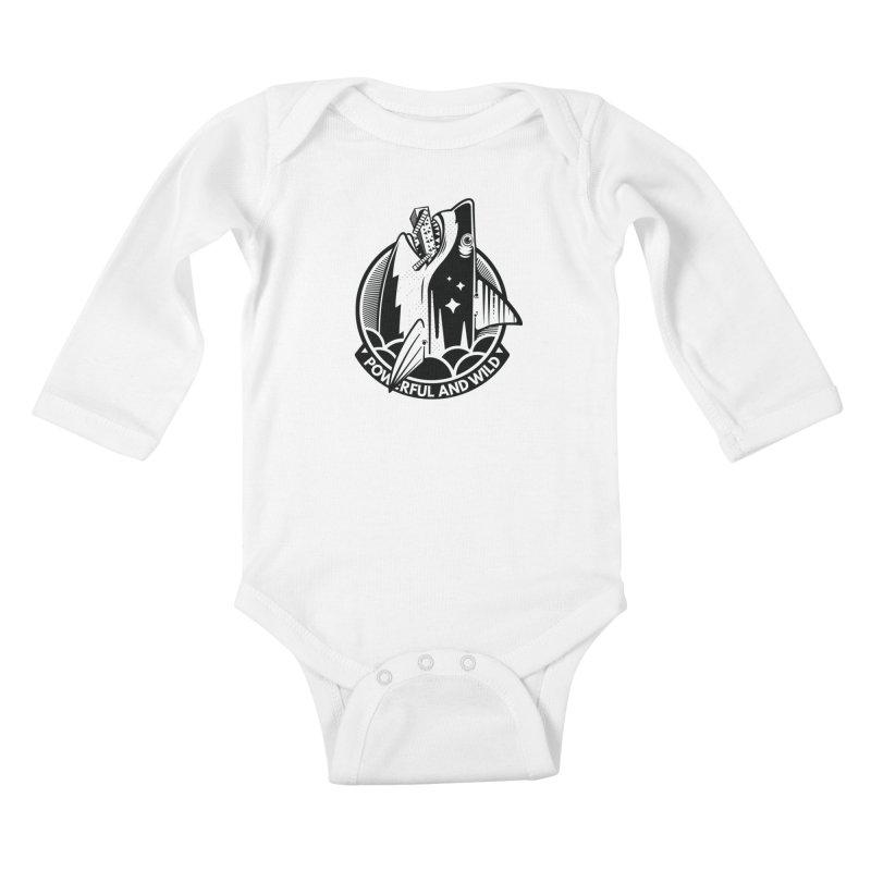 POWERFUL AND WILD Kids Baby Longsleeve Bodysuit by kukulcanvas's Artist Shop