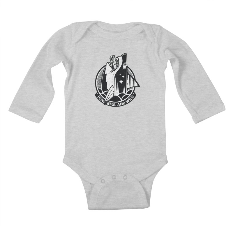 POWERFUL AND WILD Kids Baby Longsleeve Bodysuit by kukulcanvas's Artist Shop