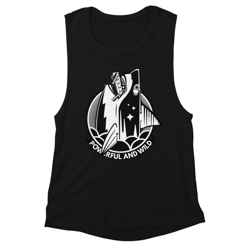 POWERFUL AND WILD Women's Tank by kukulcanvas's Artist Shop
