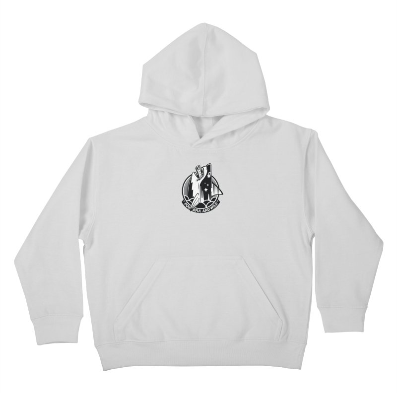 POWERFUL AND WILD Kids Pullover Hoody by kukulcanvas's Artist Shop