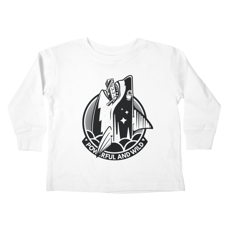 POWERFUL AND WILD Kids Toddler Longsleeve T-Shirt by kukulcanvas's Artist Shop