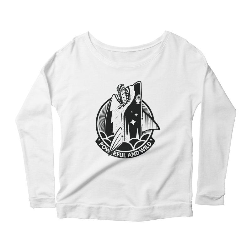 POWERFUL AND WILD Women's Scoop Neck Longsleeve T-Shirt by kukulcanvas's Artist Shop