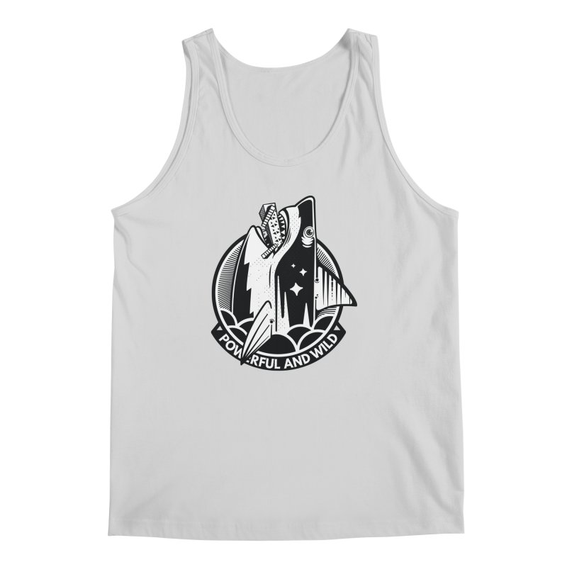 POWERFUL AND WILD Men's Regular Tank by kukulcanvas's Artist Shop