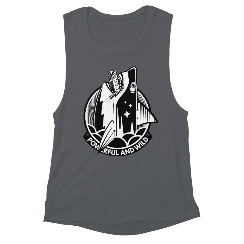 POWERFUL AND WILD Women's Muscle Tank by kukulcanvas's Artist Shop