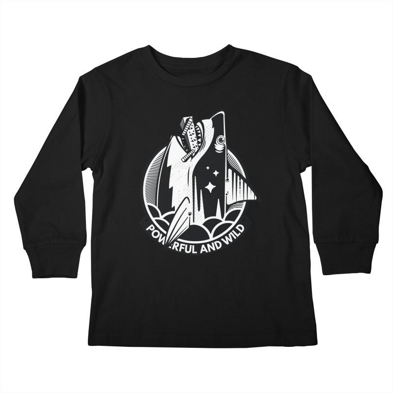 POWERFUL AND WILD Kids Longsleeve T-Shirt by kukulcanvas's Artist Shop