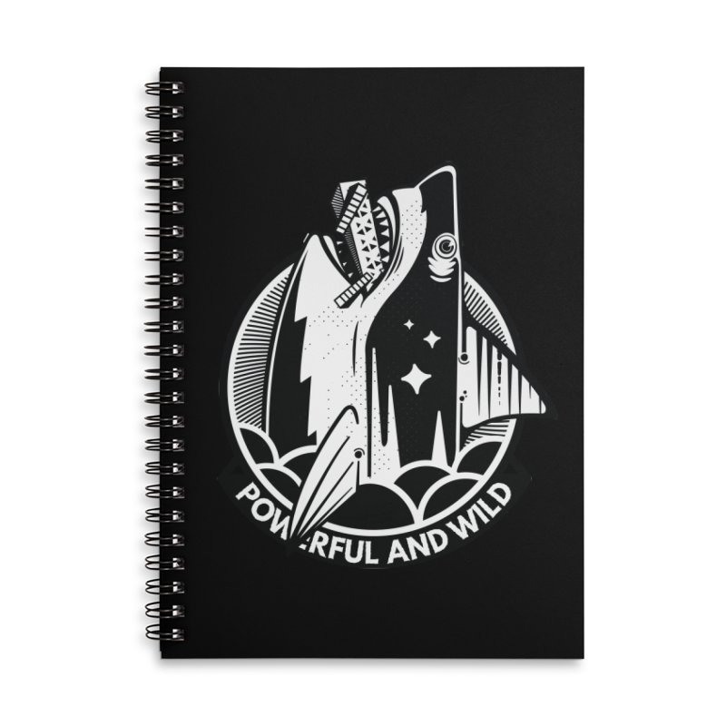 POWERFUL AND WILD Accessories Lined Spiral Notebook by kukulcanvas's Artist Shop
