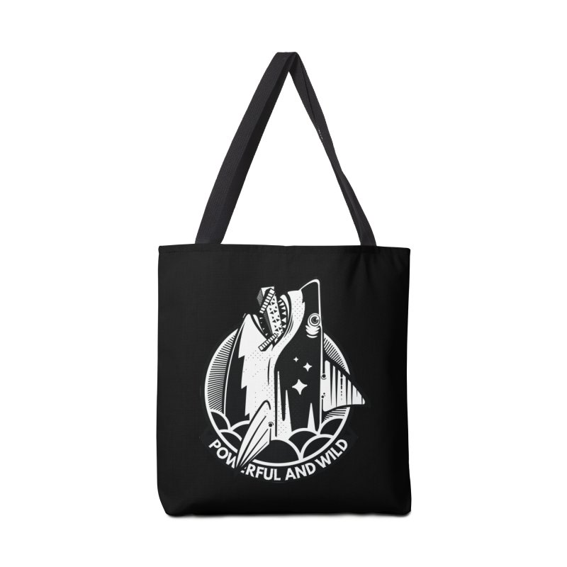 POWERFUL AND WILD Accessories Tote Bag Bag by kukulcanvas's Artist Shop