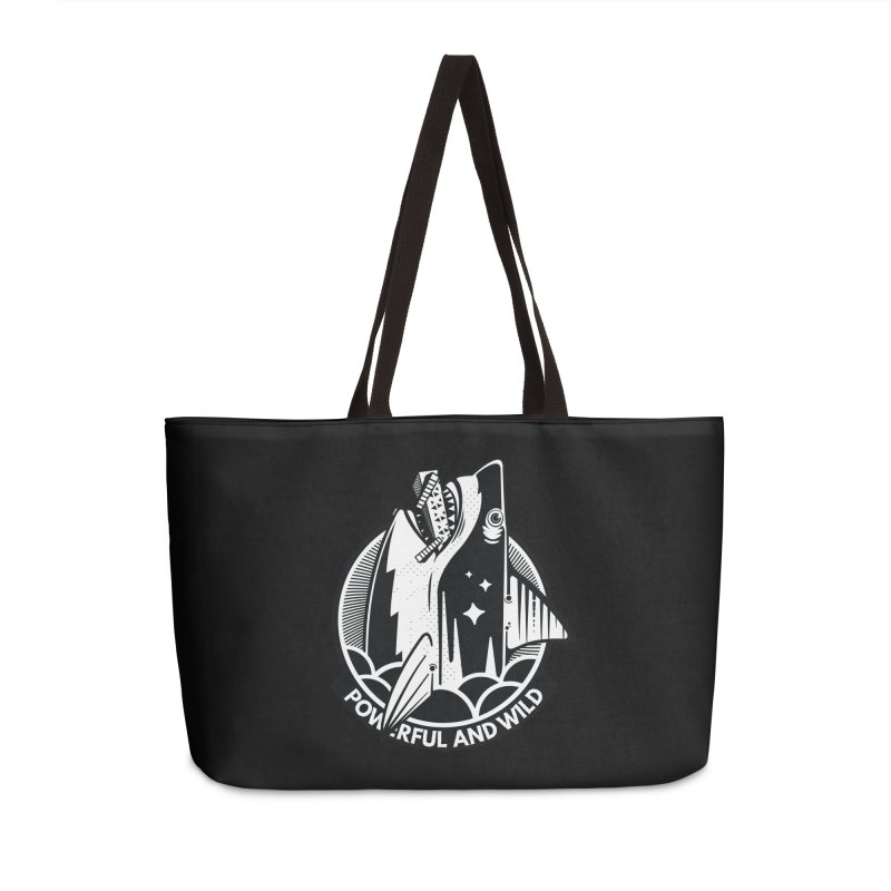 POWERFUL AND WILD Accessories Weekender Bag Bag by kukulcanvas's Artist Shop