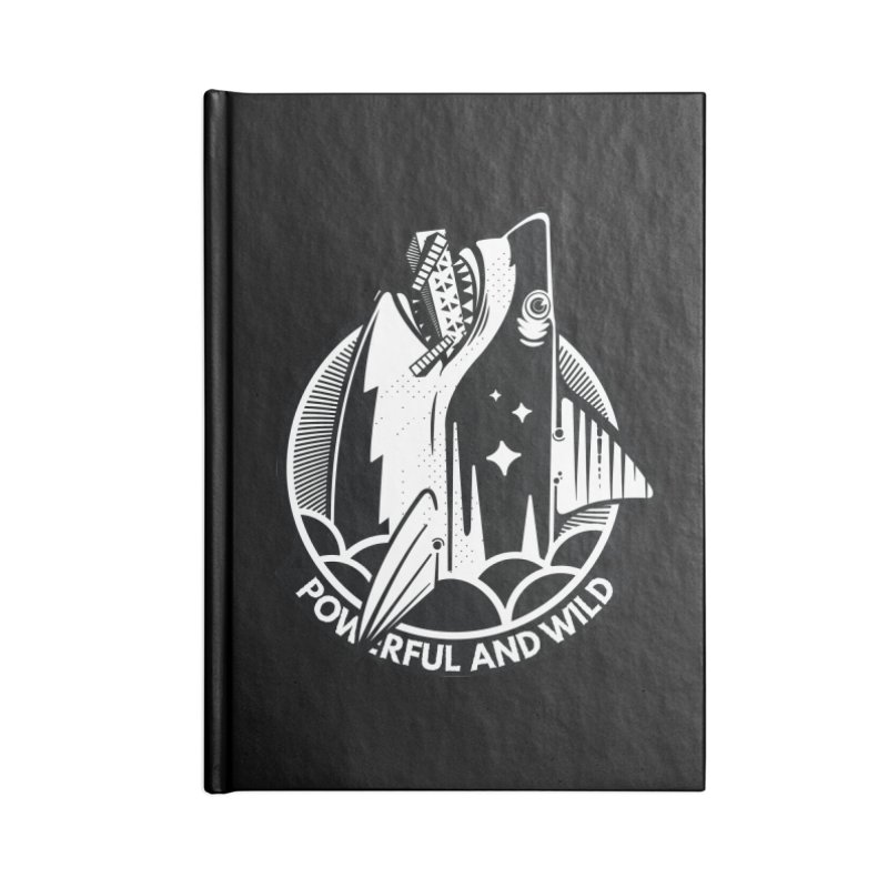 POWERFUL AND WILD Accessories Lined Journal Notebook by kukulcanvas's Artist Shop