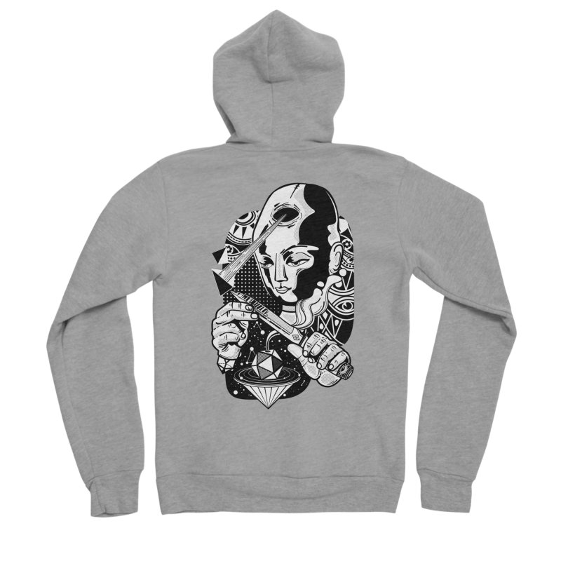 LOTOFACE Men's Sponge Fleece Zip-Up Hoody by kukulcanvas's Artist Shop