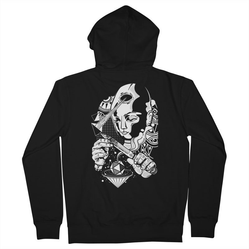 LOTOFACE Women's French Terry Zip-Up Hoody by kukulcanvas's Artist Shop