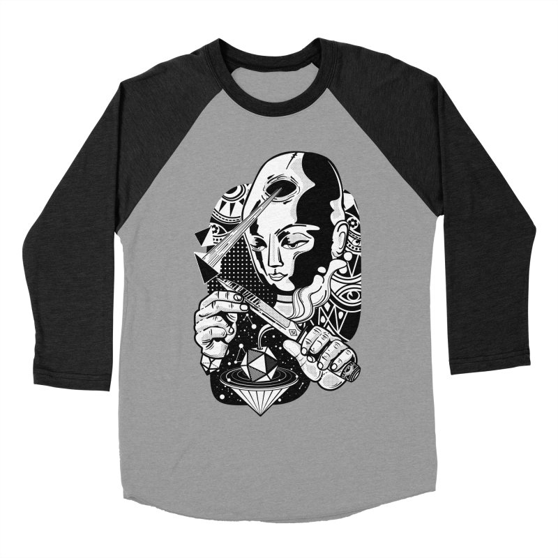 LOTOFACE Men's Baseball Triblend Longsleeve T-Shirt by kukulcanvas's Artist Shop