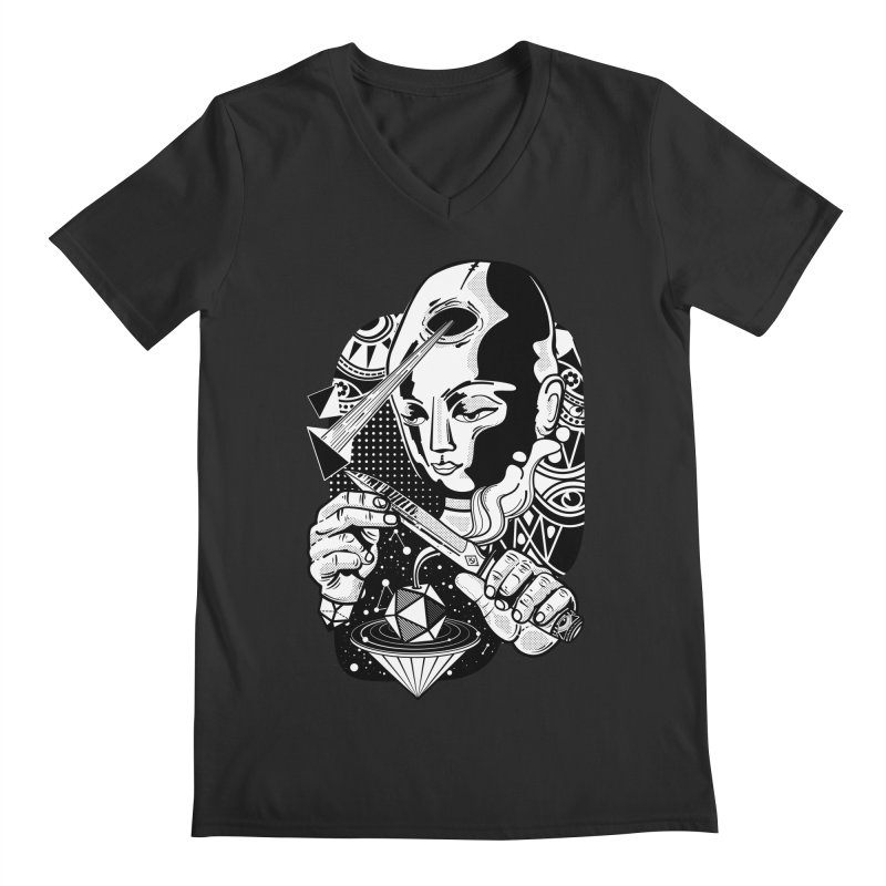 LOTOFACE Men's Regular V-Neck by kukulcanvas's Artist Shop
