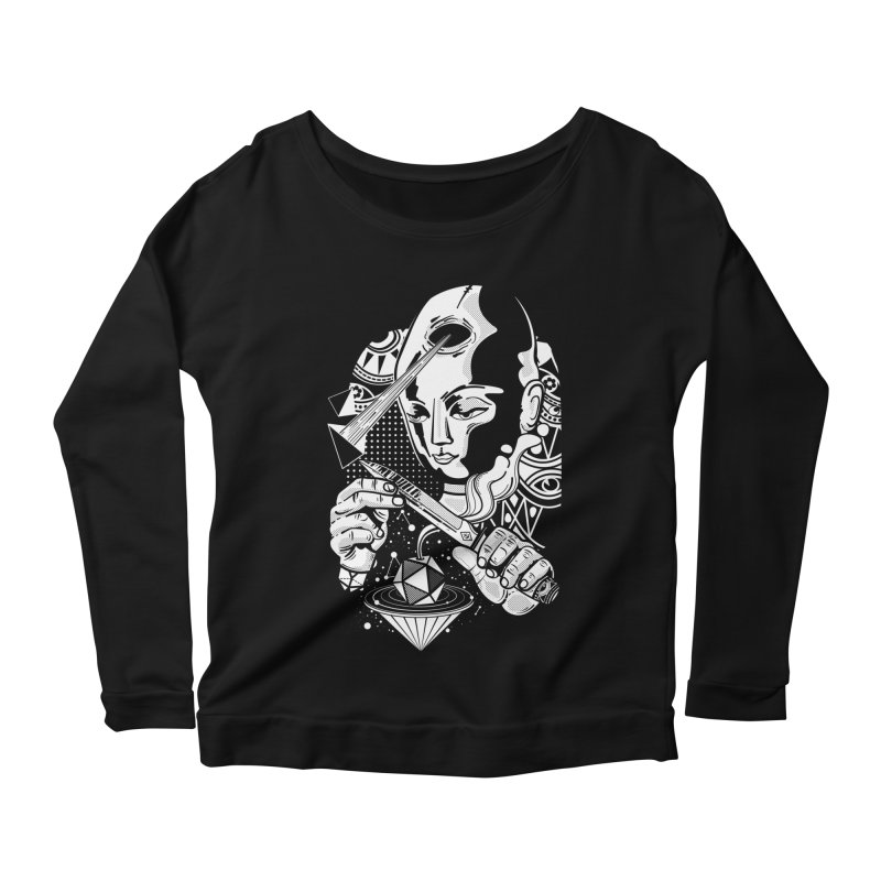 LOTOFACE Women's Scoop Neck Longsleeve T-Shirt by kukulcanvas's Artist Shop