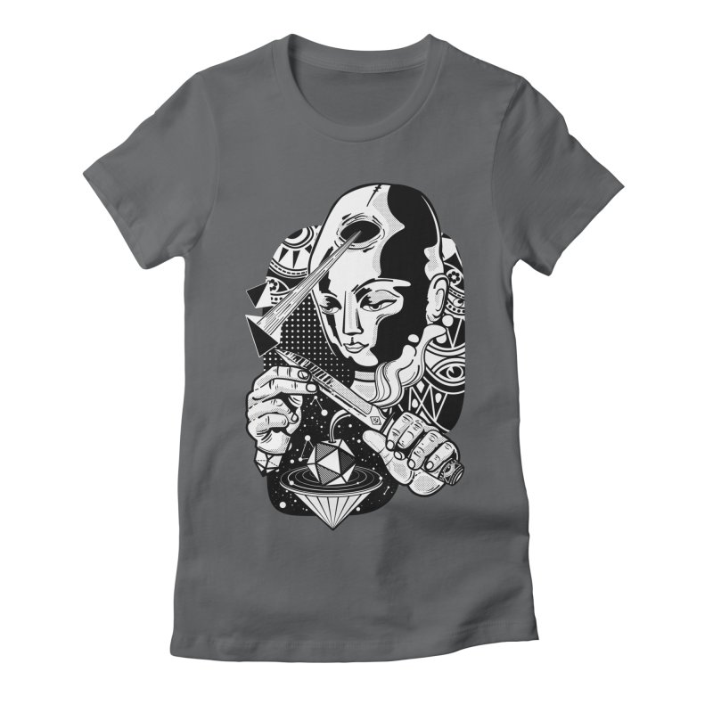 LOTOFACE Women's Fitted T-Shirt by kukulcanvas's Artist Shop