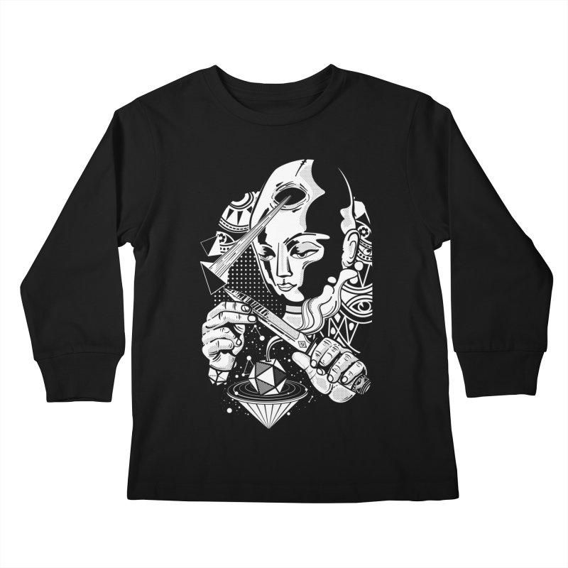 LOTOFACE Kids Longsleeve T-Shirt by kukulcanvas's Artist Shop