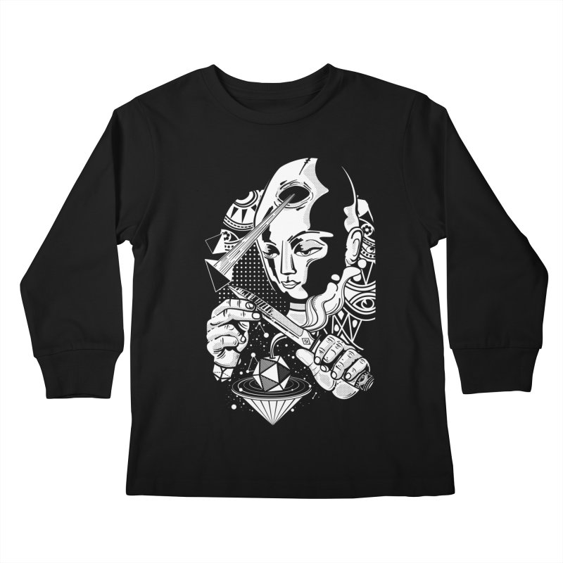 LOTOFACE Kids Longsleeve T-Shirt by kukulcanvas's Artist Shop