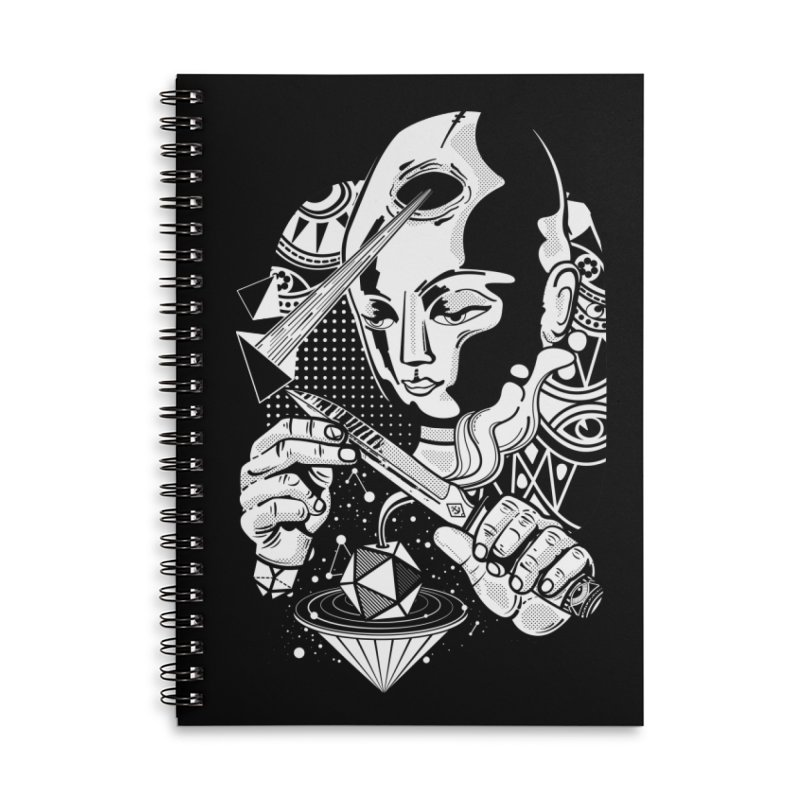 LOTOFACE Accessories Lined Spiral Notebook by kukulcanvas's Artist Shop