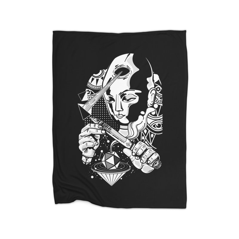 LOTOFACE Home Fleece Blanket Blanket by kukulcanvas's Artist Shop