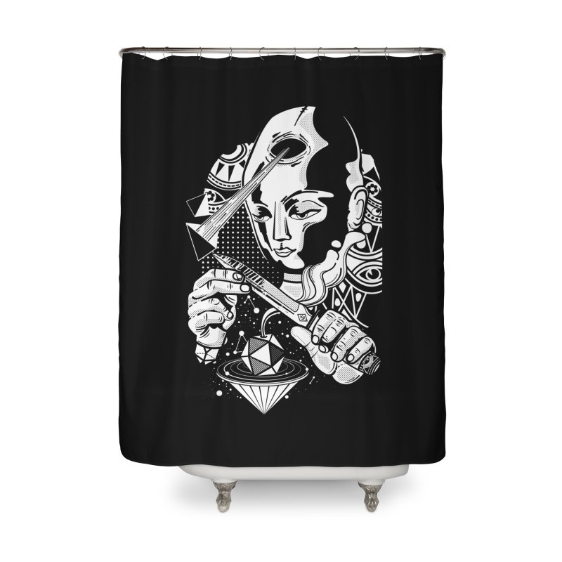 LOTOFACE Home Shower Curtain by kukulcanvas's Artist Shop