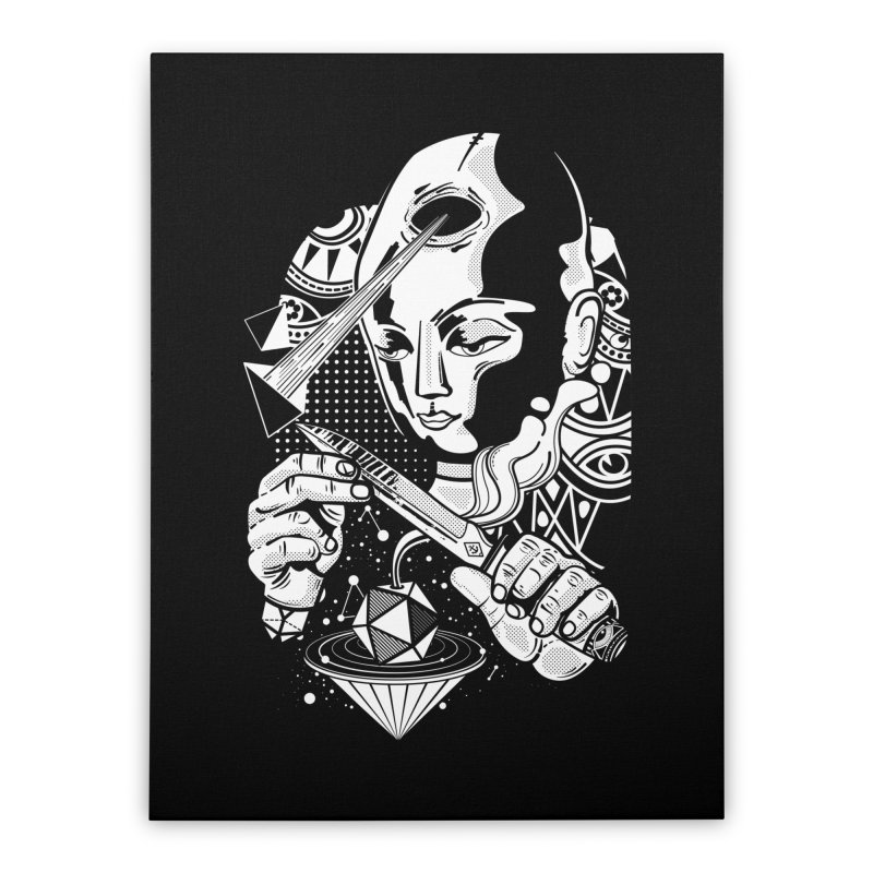 LOTOFACE Home Stretched Canvas by kukulcanvas's Artist Shop