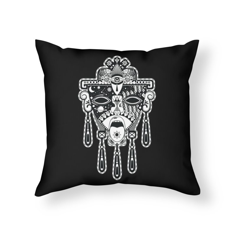 JADE Home Throw Pillow by kukulcanvas's Artist Shop