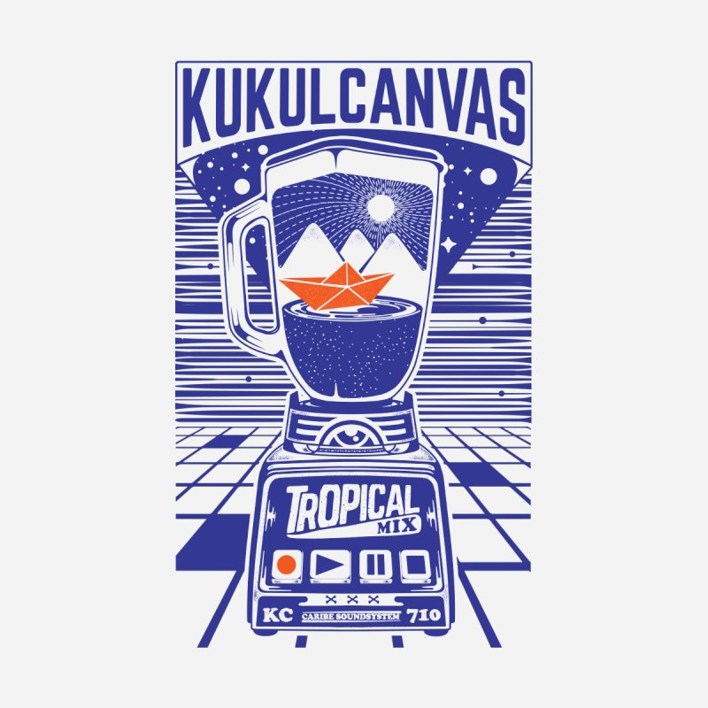 TROPICAL MIX Men's Zip-Up Hoody by kukulcanvas's Artist Shop