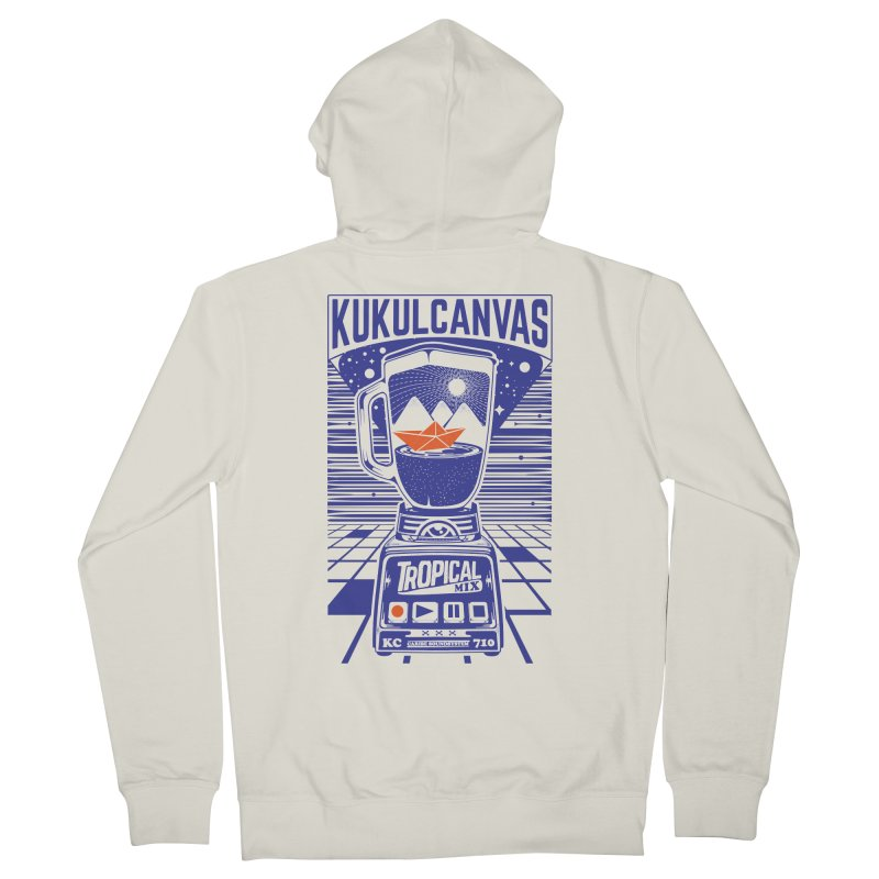 TROPICAL MIX Men's French Terry Zip-Up Hoody by kukulcanvas's Artist Shop