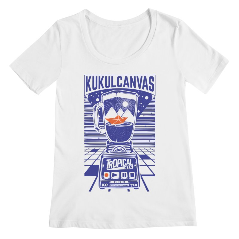 TROPICAL MIX Women's Regular Scoop Neck by kukulcanvas's Artist Shop