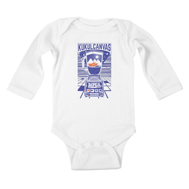 TROPICAL MIX Kids Baby Longsleeve Bodysuit by kukulcanvas's Artist Shop