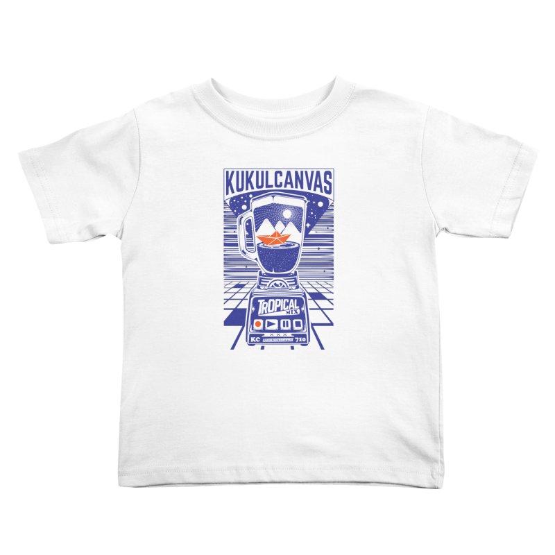 TROPICAL MIX Kids Toddler T-Shirt by kukulcanvas's Artist Shop