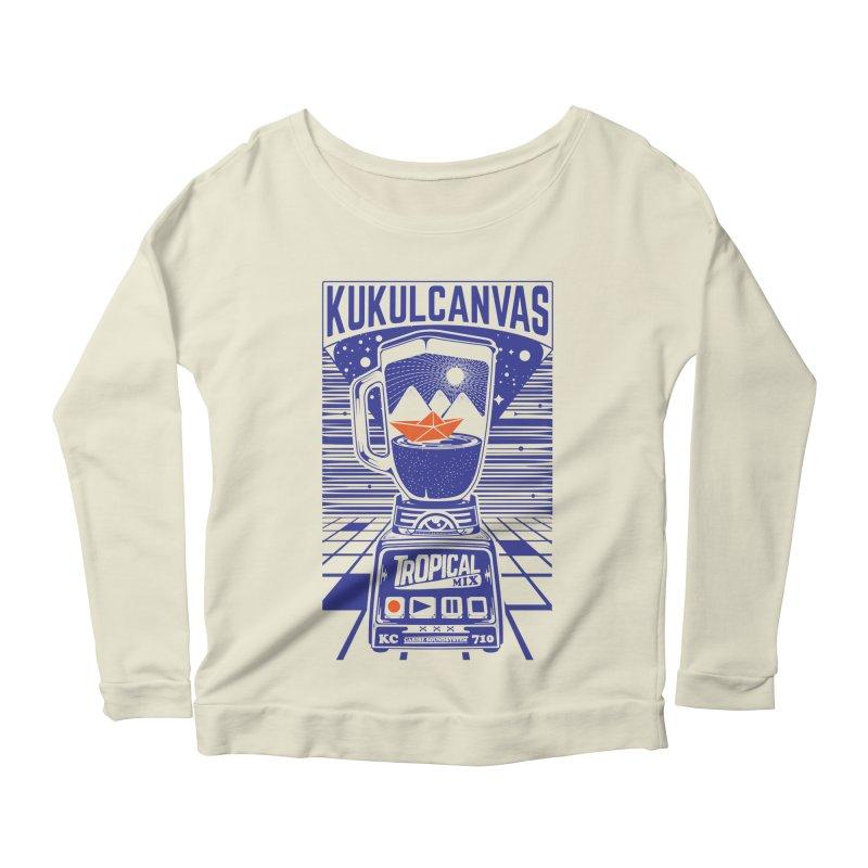 TROPICAL MIX Women's Scoop Neck Longsleeve T-Shirt by kukulcanvas's Artist Shop
