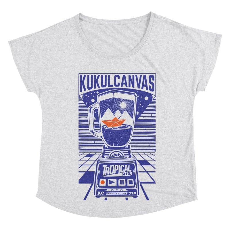 TROPICAL MIX Women's Scoop Neck by kukulcanvas's Artist Shop