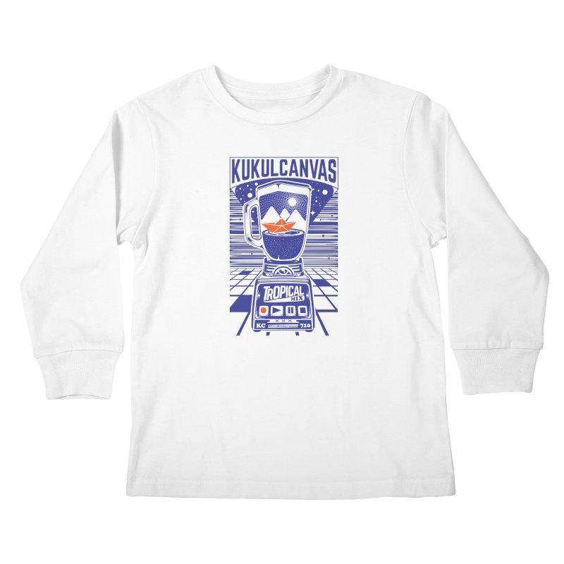 TROPICAL MIX Kids Longsleeve T-Shirt by kukulcanvas's Artist Shop
