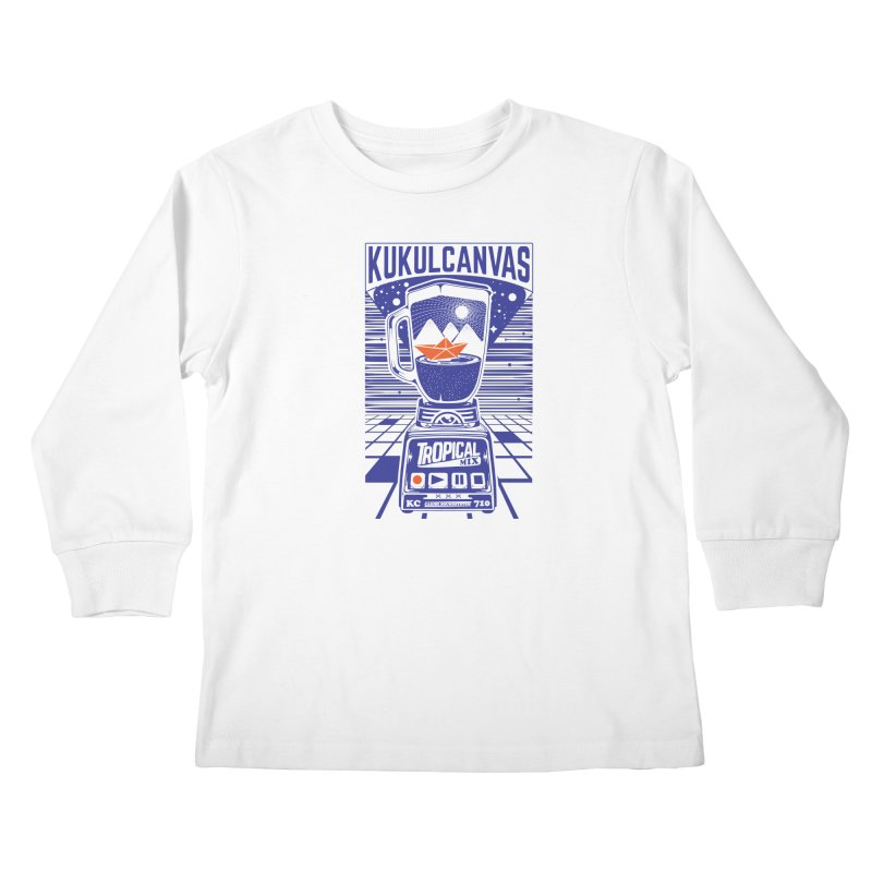 TROPICAL MIX Kids Longsleeve T-Shirt by kukulcanvas's Artist Shop