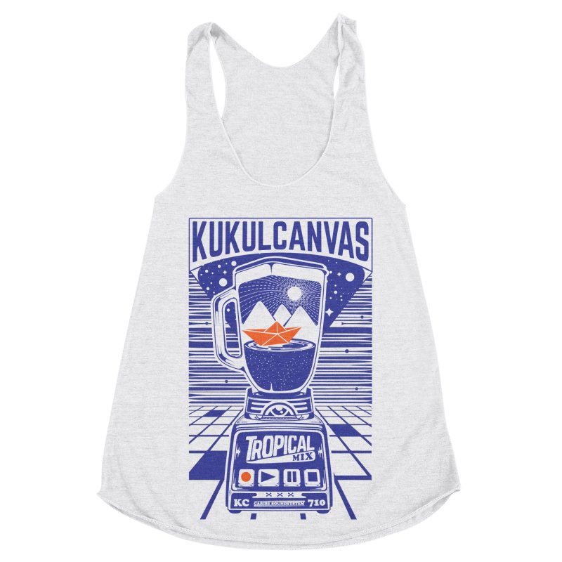 TROPICAL MIX Women's Racerback Triblend Tank by kukulcanvas's Artist Shop