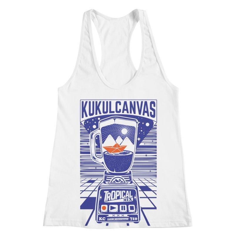 TROPICAL MIX Women's Racerback Tank by kukulcanvas's Artist Shop